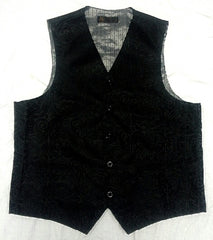Pallini Black Paisley Satin Formal Dress Vest- size 40R
