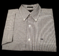 New- Alexander Julian Black/White Houndstooth BD Fashion Shirt- size M