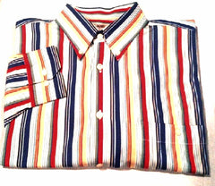 Windsor Lake- Multi Color Stripe-100% Cotton,BD Fashion Shirt- size L