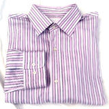 Linea Rossa Signature Pink Stripe Cotton Dress Shirt- size L