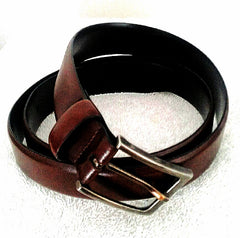 New- Genuine Italian Leather Brown Dress Belt- size 34