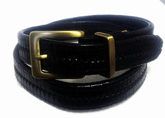 New- Black Braided Leather Belt- Size 34