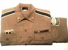 New- Cami 'US Marines' SS Novelty Fashion Shirt- size 2XL