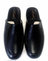 New- LB Evans Genuine Black Leather Slippers- Size 9M