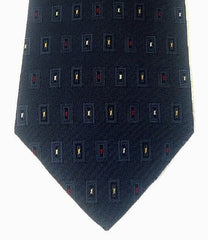 G.J. Cahn USA- Cadet Blue 100% Silk Check Tie