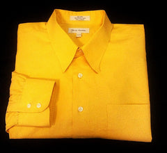 John Nordstrom- Yellow Pique 100% Cotton BU Dress Shirt- size 17.5x34