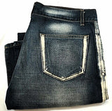 New- 'E-Male Denim'- 4 Patch Pocket Boot-Cut Fashion Jeans- size 33x32