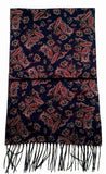 New- Navy Blue Paisley 'Cashmink' Winter Fashion Scarf