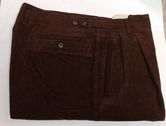 Henry Cotton's-Brown Brushed Cotton Twill Casual Fashion Trousers- size 36x31