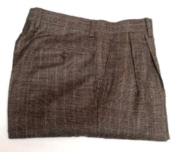 New- Lauren-Ralph Lauren Gray/Black Houndstooth Flannel Trousers- size 32x30