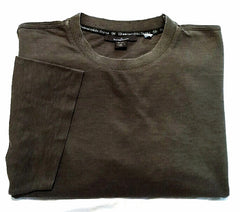 Ermenegildo Zegna-Olive/Taupe Cotton/Tencel Dress Tee Shirt- size (54) XL