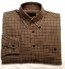 Scott Barber-Brown,Cotton Flannel Check Fashion Shirt- Size M