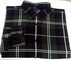 New- Alan Flusser- Green/Purple Plaid, 100% Cotton, BD Fashion Shirt- size L