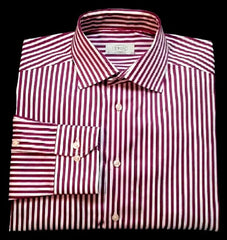 Eton of Sweden 'Contemporary'-Raspberry/White Pinstripe Dress Shirt- size 16 (41)