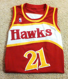 Vintage NBA Atlanta Hawks- #21 'Dominique Wilkins'- Retro Game Jersey- size (56) 3XL