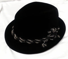 Vintage Norfolk House, Black Velvet Fedora Hat- size (7.25)