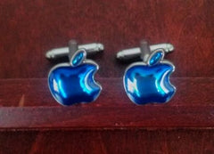 New- Apple Novelty Cuff Links