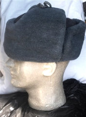 Vintage Russian Military Gray Winter Hat