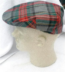 Scottish Plaid Cap- Size M