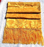 Gold Satin/Silk Formal Scarf