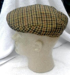 Vintage English HT Tweed Cap- Size S/M