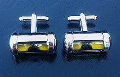 Sand Hour Glass Cuff Links