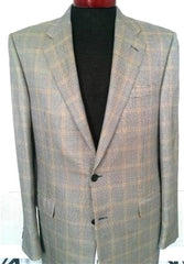 Hickey Freeman- Silk/ Wool Sport Houndstooth Sport Coat- Size 42L