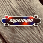 HyperDyed Longboard Sticker Dyed Wheels