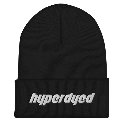 Black Cuffed Beanie - HyperDyed Wheels