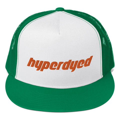 Green Trucker Cap - HyperDyed Wheels