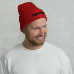 Red Cuffed Beanie - HyperDyed Wheels