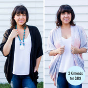 TWO bolero kimonos - save $10