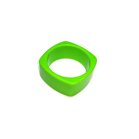 chunky lime green silicone bangle