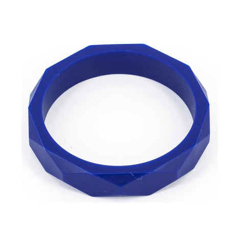 navy teething bangle