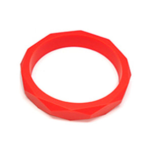red silicone teething bangle