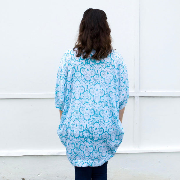 mint bolero kimono for breastfeeding