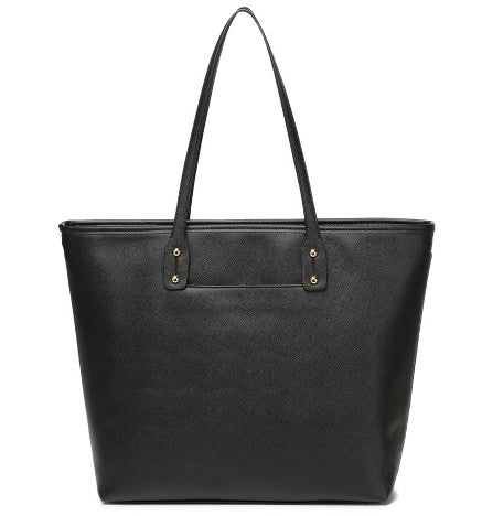 black corporate looking nappy tote bag