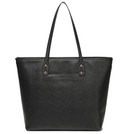 corporate tote nappy bag - black and gold