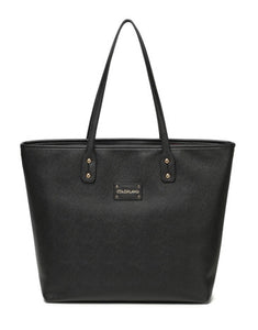 black corporate looking nappy bag
