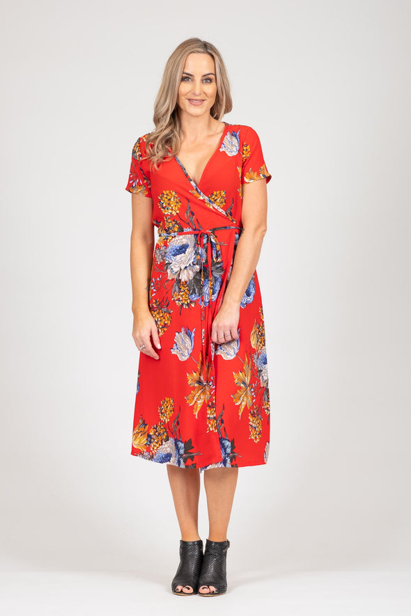 White Chalk - Janey Dress - Red Floral SALE