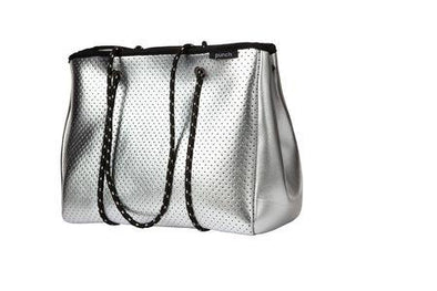 Punch Tote Bag - Silver
