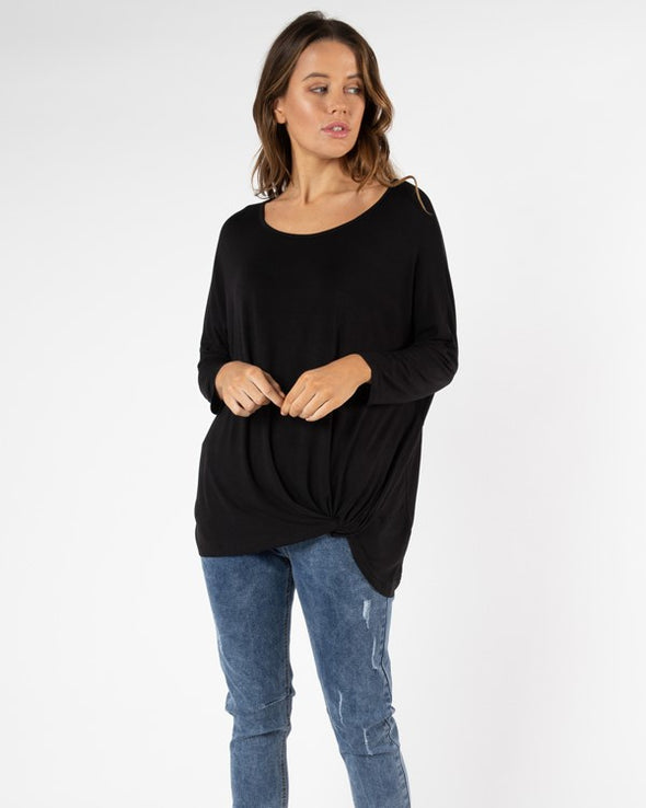 Betty Basics - Atlanta 3/4 Top - Black