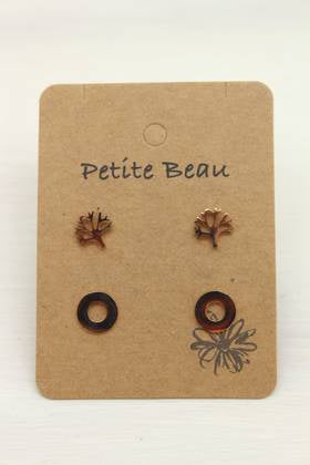 Petite Beau Tree/Circle Earrings