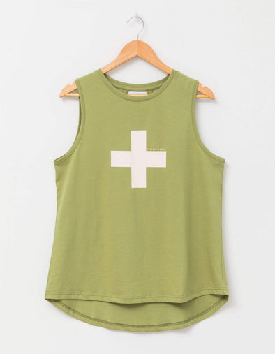 Stella & Gemma - Millie Tank - Olive Rose Cross