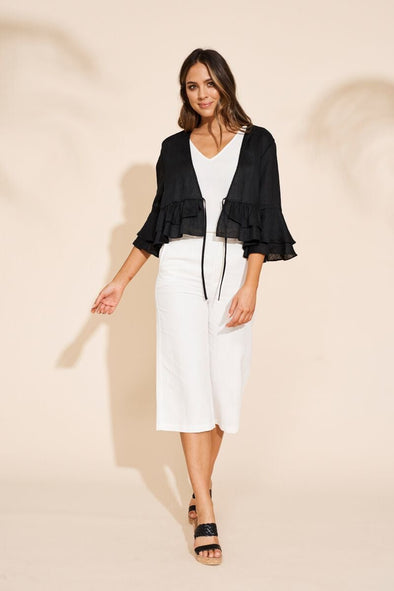 Masai Ruffle Jacket - Black