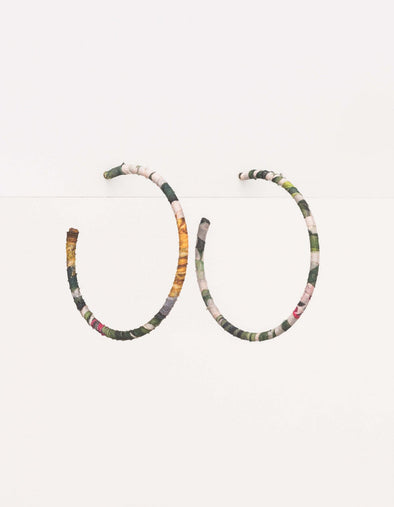 Stella & Gemma - Earrings - Hoop Floral