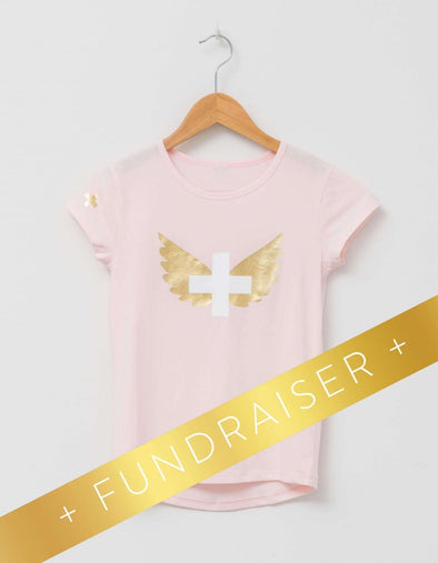 Stella & Gemma Mini - Eden Tee with Rose Wings