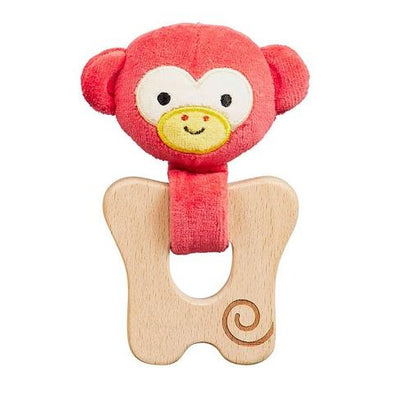 Petit Collage - Monkey Teether