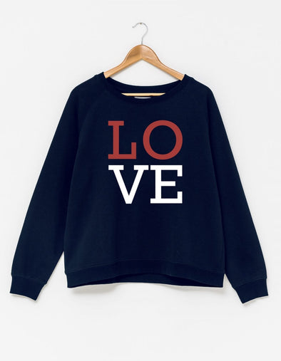 Stella & Gemma - Blue LOVE Sweater