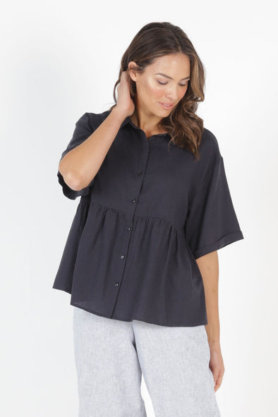 Betty Basics - Ross Shirt - Indi Grey